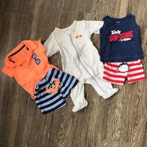 Carter's 3 Month Summer Fun Baby Boy Bundle